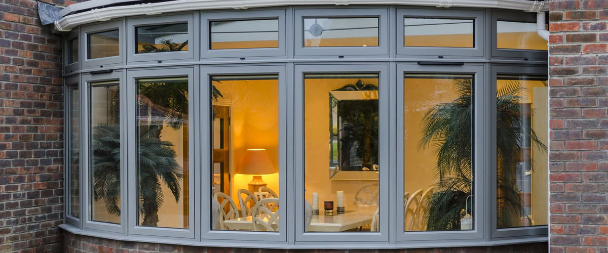 origin aluminium windows bay window grey