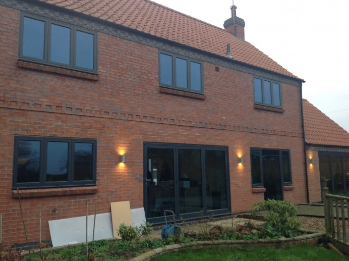 Anthracite Grey Windows, French Doors and Bi-Fold Doors in Collingham