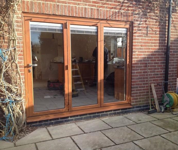 Natural Finish Bi-fold Door in Nottingham