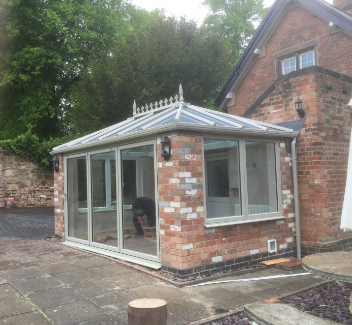 Exclusive French Grey Finish on a Conservatory at Darley Abbey in Derby