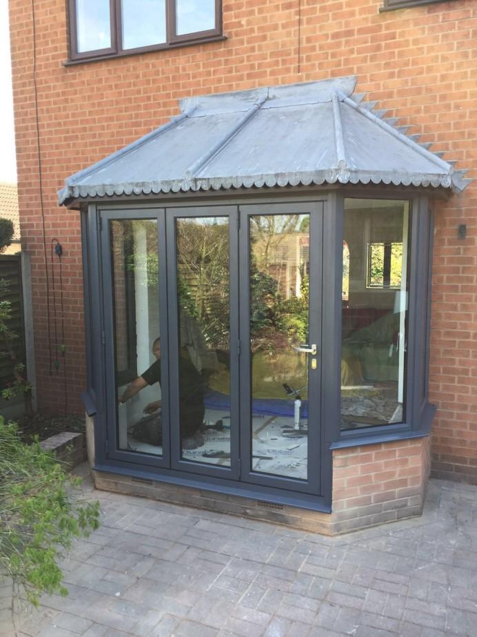 Slate Grey Bi-Fold Door in Derby
