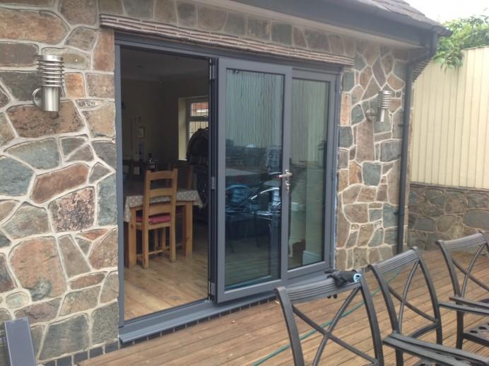 Anthracite Bi-Fold Doors in Derby