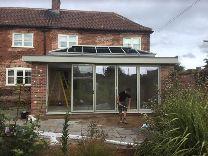 Conservatory to French Grey Orangery