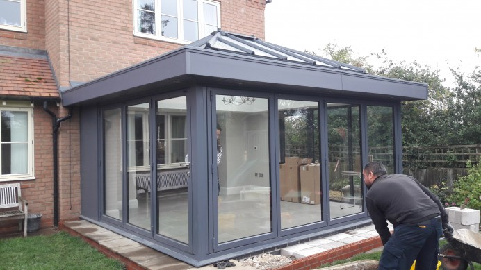 Patio Space Transformed into a Family Sized Orangery