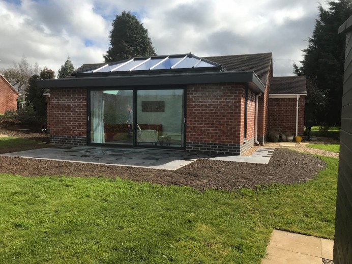 Anthracite Grey Orangery Fitted with Slider