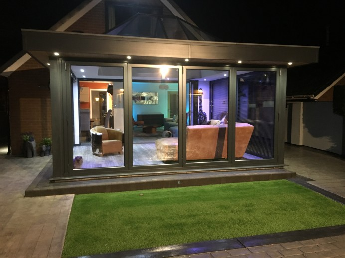 Conservatory Transformed into a Stunning Anthracite Grey Orangery