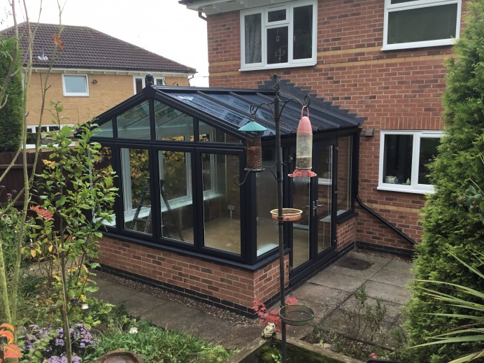 Customers Conservatory Updated into Stunning Anthracite Grey Conservatory