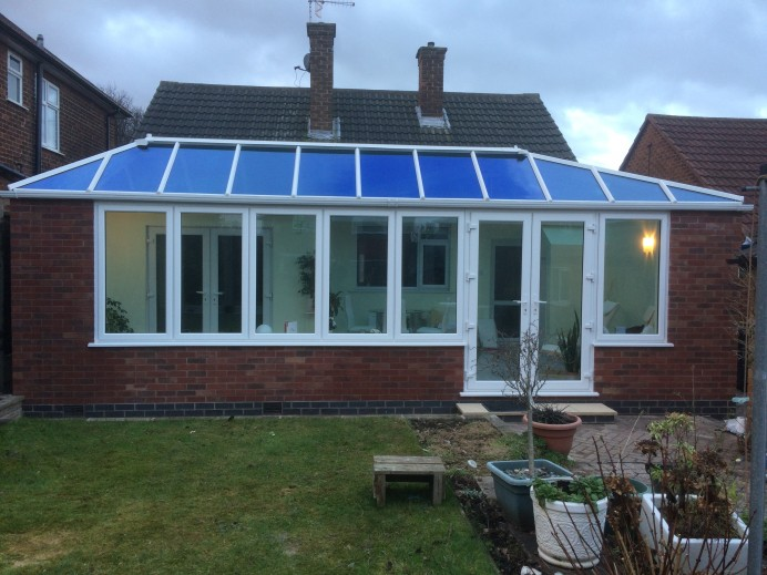 French Grey L Shaped Conservatory