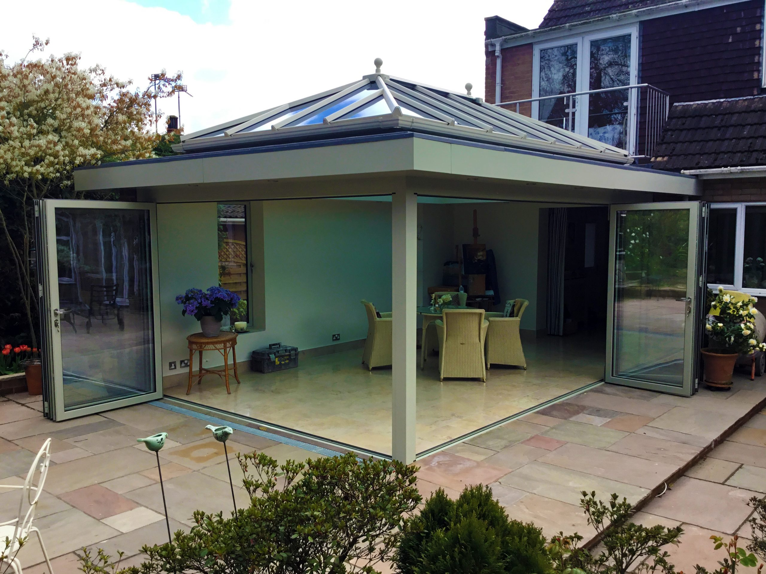 Orangery finished in Farrow & Ball French Grey