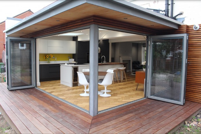 New Kitchen Finished with Bi Fold Doors