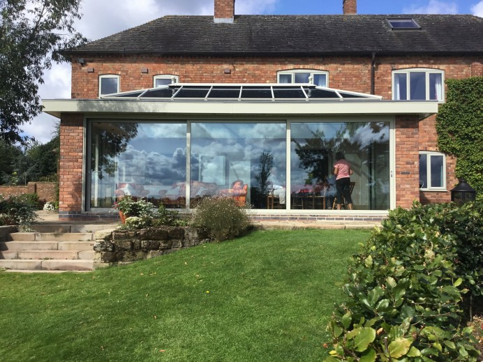 Conservatory Converted into French Grey Orangery