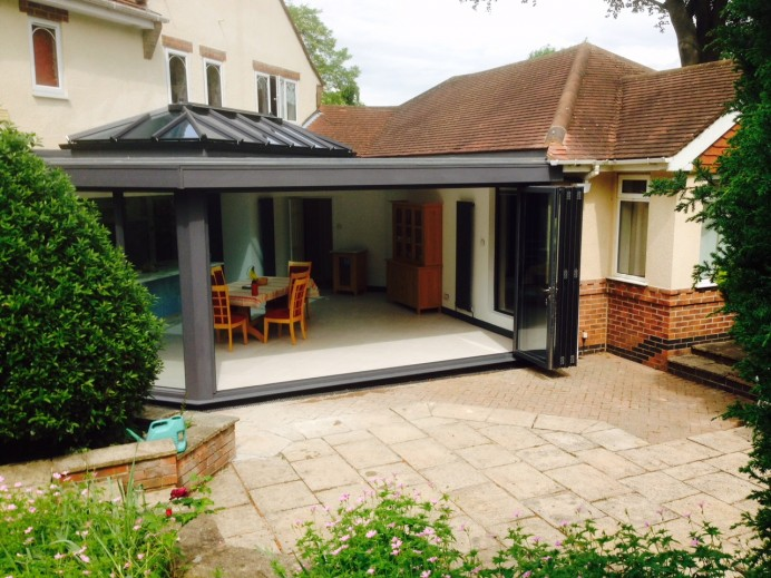 Conservatory Transformed into Stunning Anthracite Grey Orangery