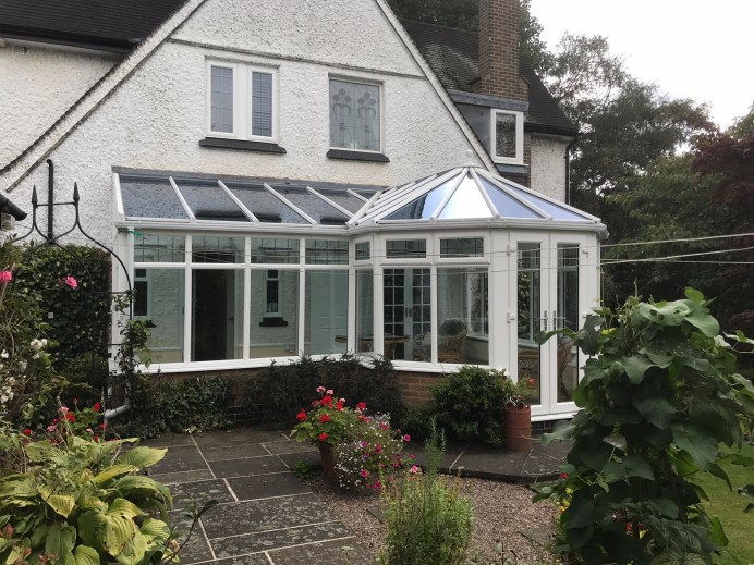 Conservatory Fitted with Porcelanosa Tiles