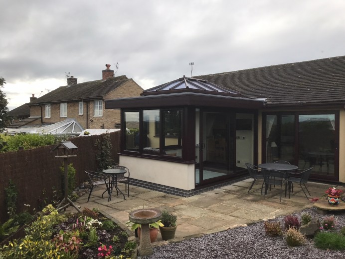 Open-Plan Orangery Finished in Rosewood