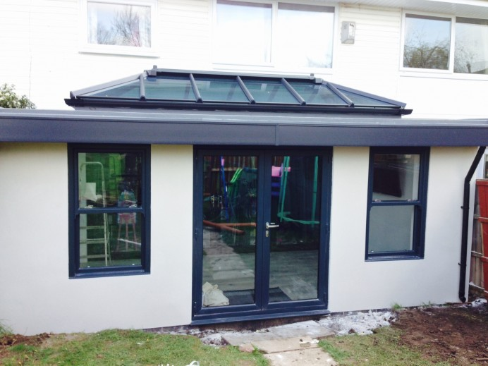 White Orangery with Anthracite Grey Additions