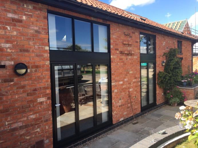 Bi Fold Doors and Window Installation in a Barn Conversion