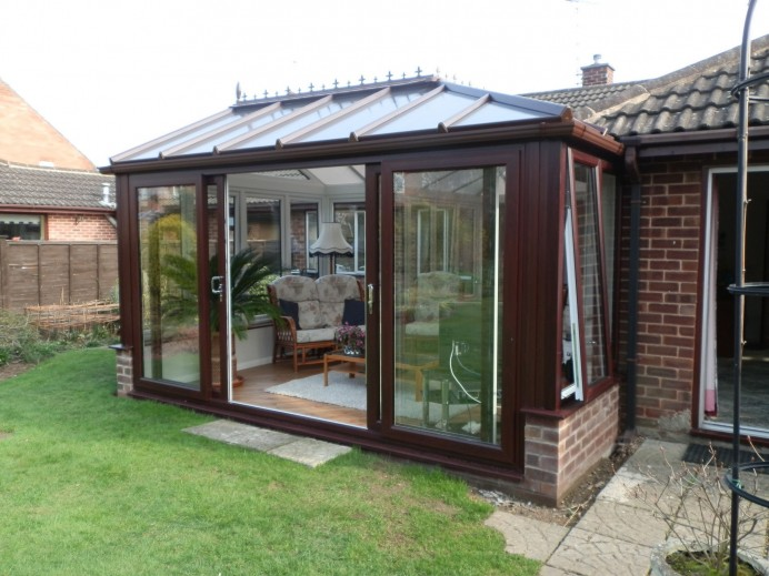 Edwardian Conservatory Finished in Rosewood