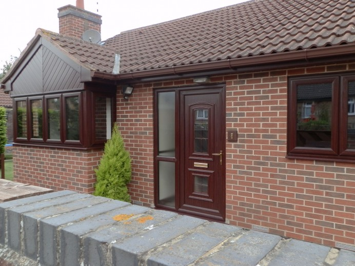 Rosewood Finished Timebrlook Windows Installed