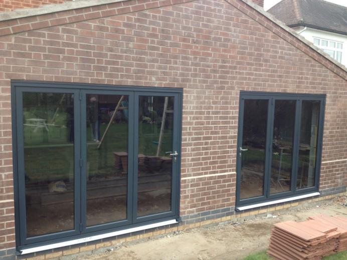 Double Anthracite Grey Bi Fold Doors Installations