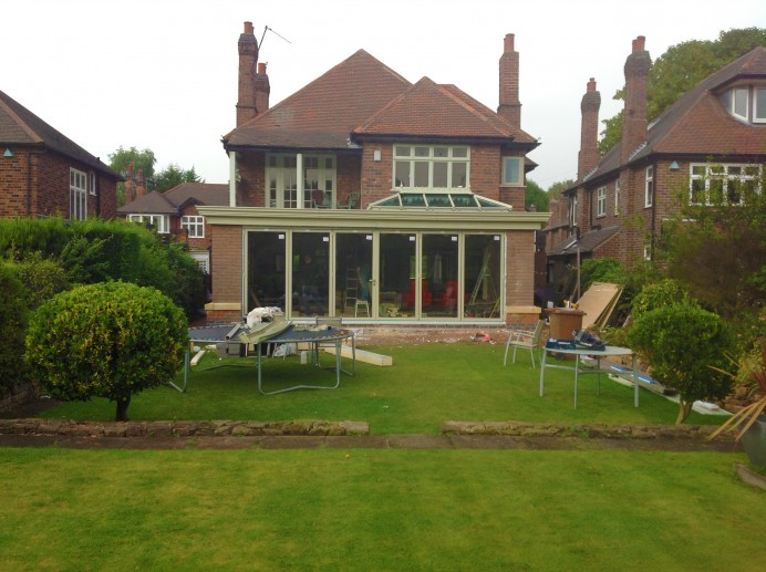 French Grey Orangery with View Point on Roof