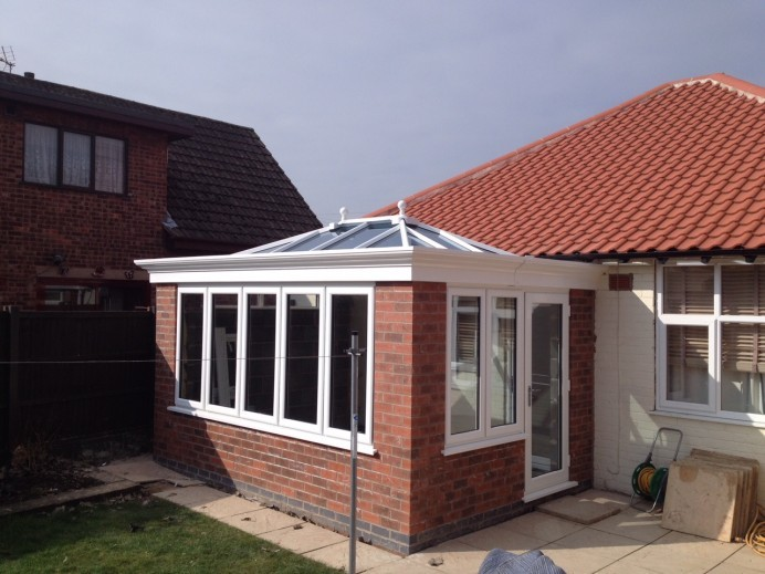 Orangery Fitting On a Bungalow