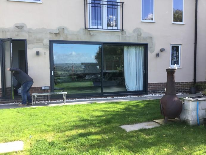 2 Pane Dutemann Sliding Door and Single Frame Door