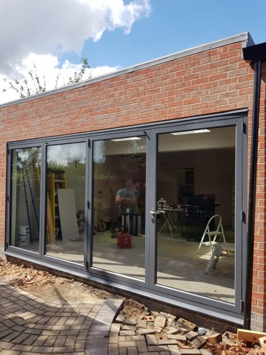 Slate Grey Bi Fold Door Installation