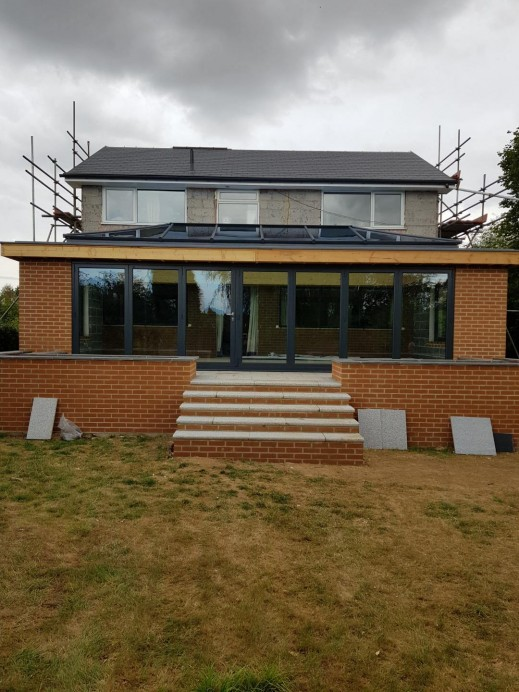 Huge Orangery Installed at the Rear of a Property