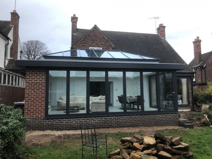 Fitting a New Orangery, and Origin Bi Fold Doors Fitted in Time for the New Year