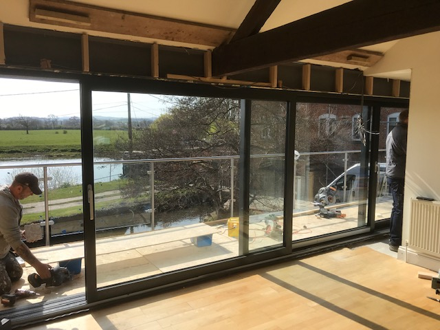 Dutemann Glide S Sliding Door Fitted In Canal Side Property
