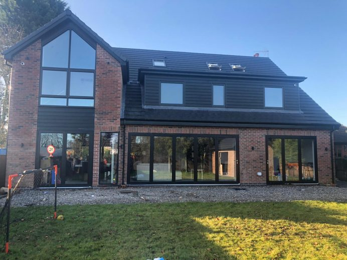 Modern Property Completed with Origin Windows and Bi Fold Doors