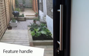 sunflex sliding door feature handle