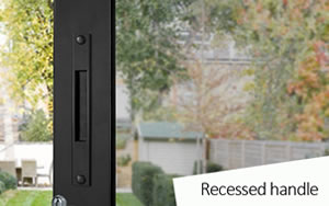 sunflex sliding door recessed handle