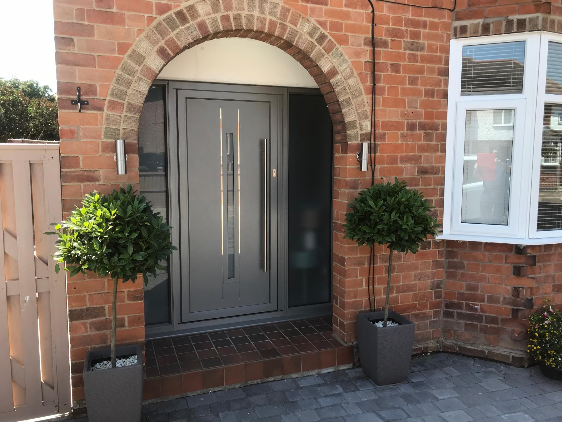 Origin aluminium entrance doors Nottingham